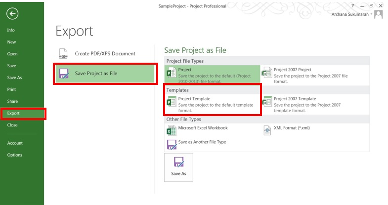 creating project templates in microsoft project 2013 - Project Template