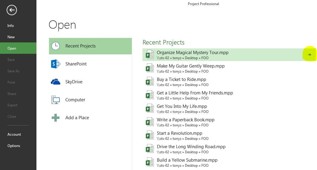 Clean-Recent-Projects-out-of-Microsoft-Project-2013-05 – EPMA Blog