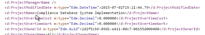OData project fields