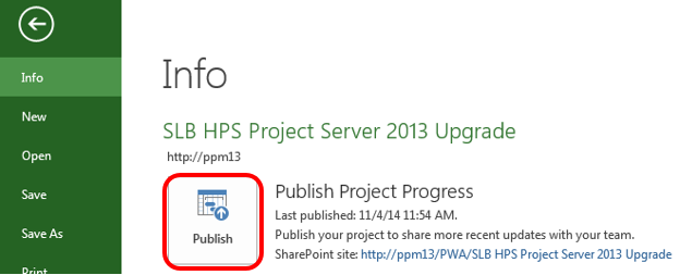 Project File Publish