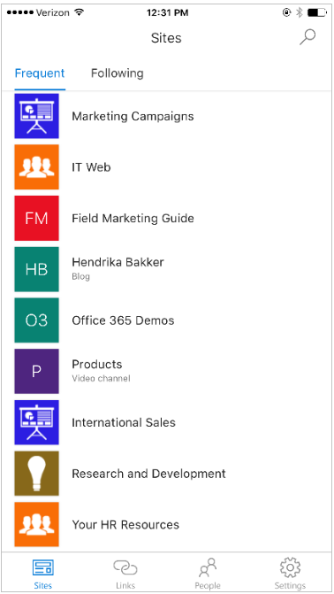 SharePoint Mobile App
