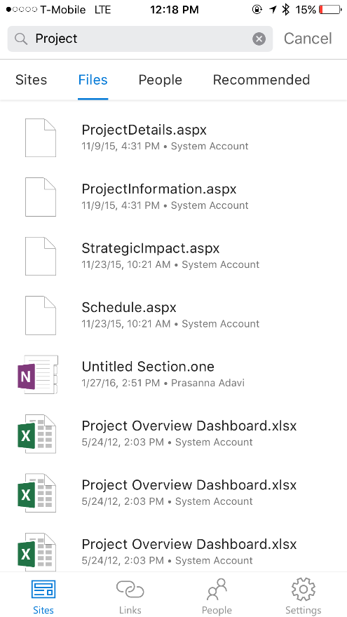 Integration with OneDrive