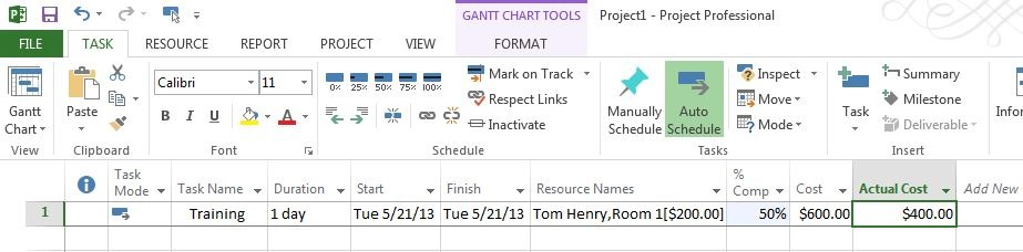 ms project assigning resources to tasks