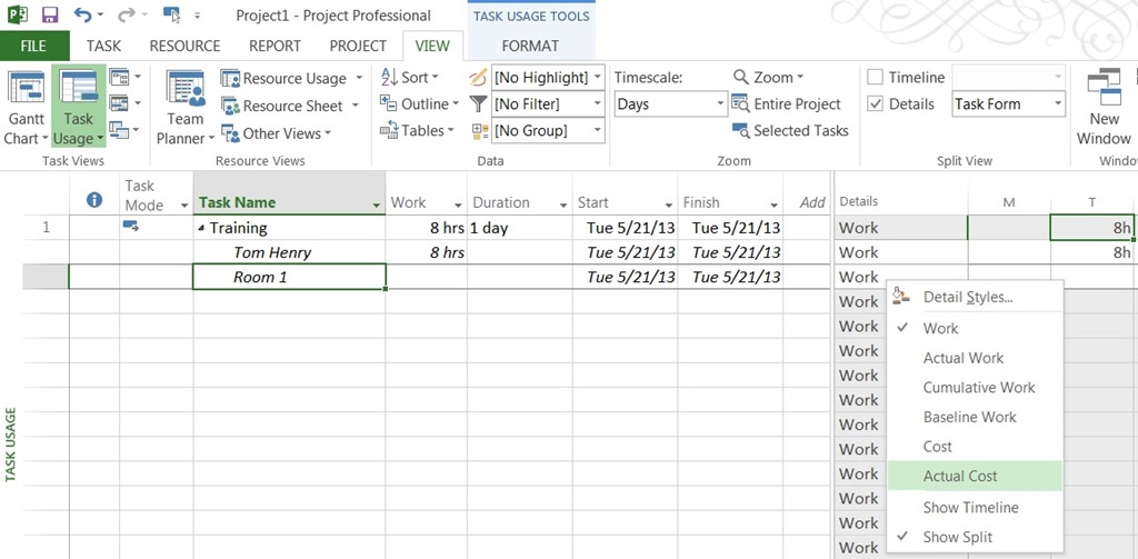 assign resources to tasks microsoft project 2007
