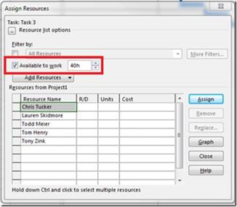 Assigning Resources in Microsoft Project – Project ...